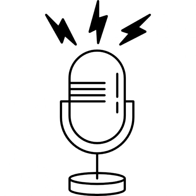 626x626 Microphone Outline With Opened Line Icons Free Download