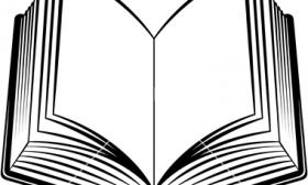 280x168 Open Book Clip Art Template Clipart Panda