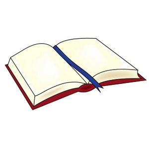 300x300 Open Book Clipart Image