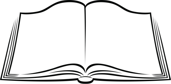589x291 Open Book Outline Clip Art
