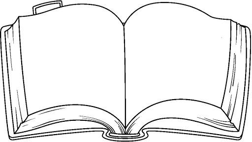 512x288 Open Book Outline Clipart Clipart Panda