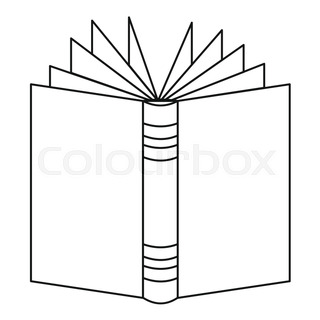 320x320 Open Book Icon. Outline Illustration Of Open Book Vector Icon