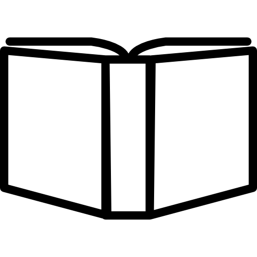 512x512 Open Book Outline Variant Inside A Circle