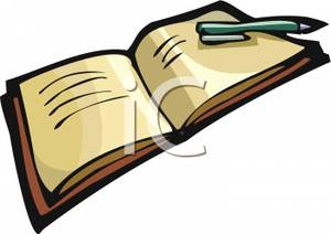 300x212 Pen Clipart Open Book