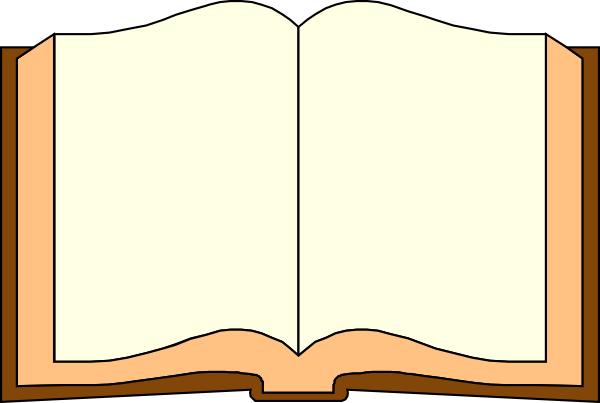 600x403 Book Outline Clipart