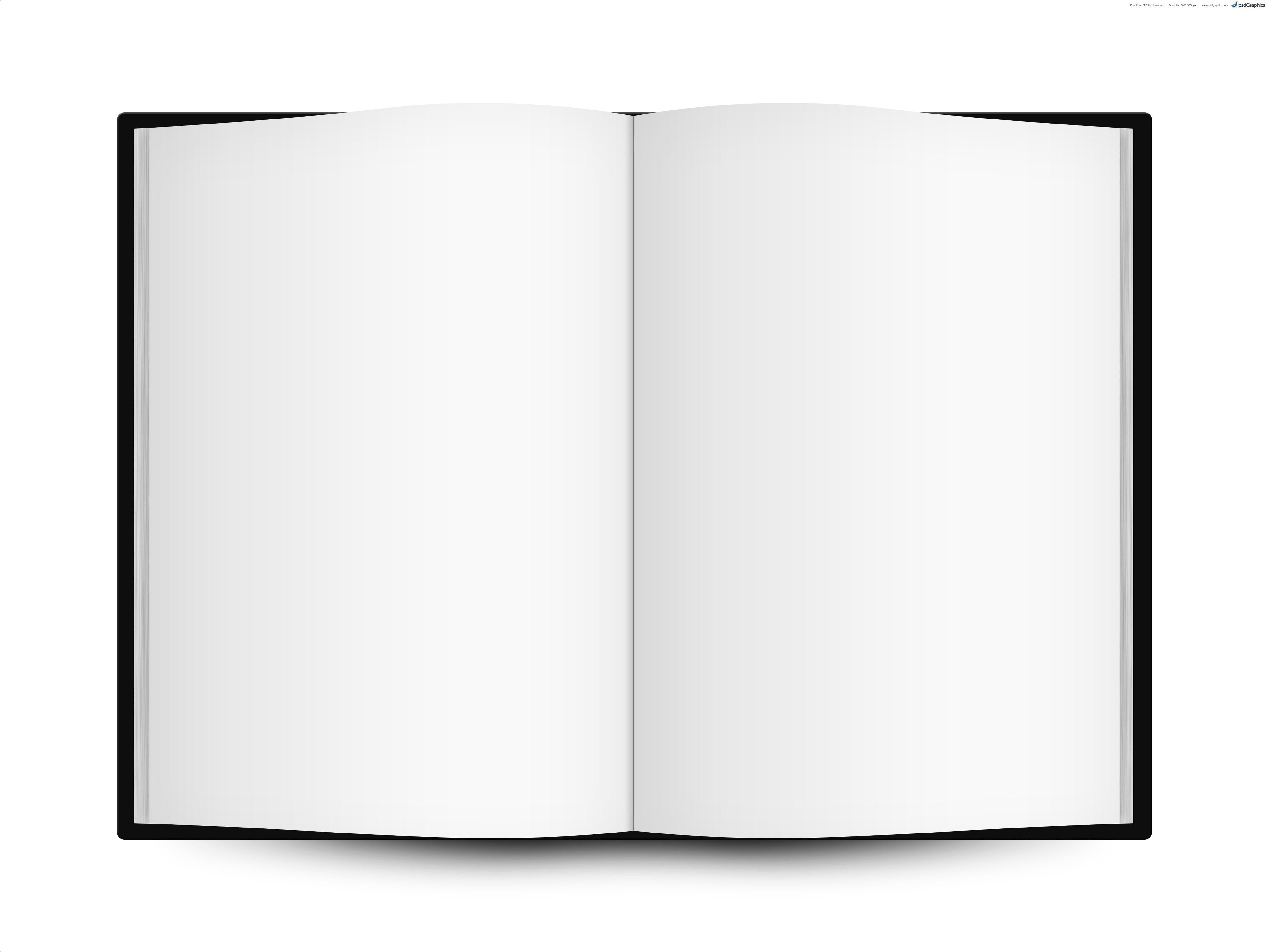 5354x4016 Blank Open Book Template Sample Invitations