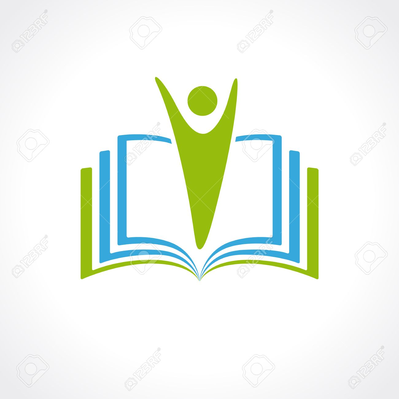 1300x1300 Education Vector Logo Template Open Book And Human. Education
