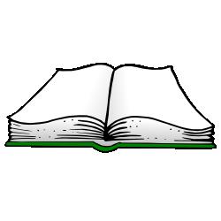 250x250 Green Clipart Open Book