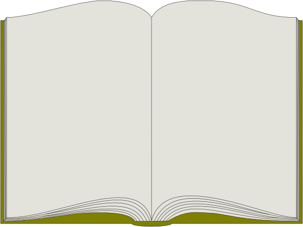 600x450 Open Book Template Clipart