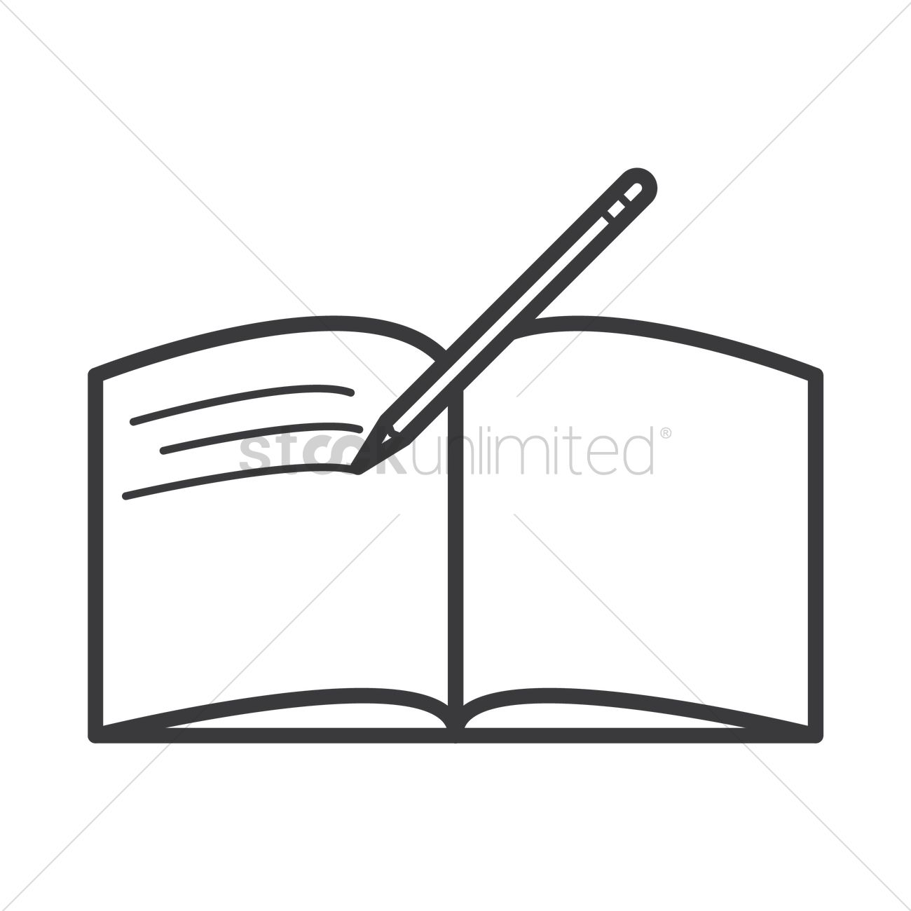 1300x1300 Open Books With Pen Clipart