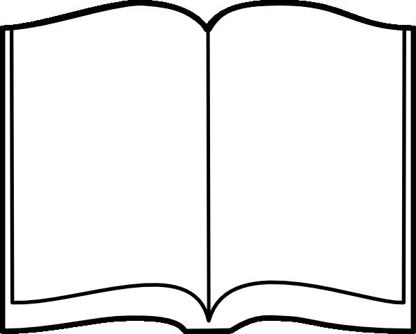 600x483 Open Book Clip Art