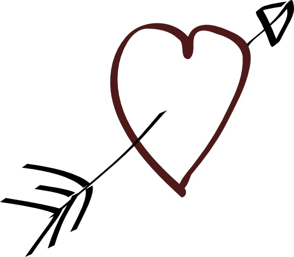 594x519 Valentine Heart Arrow Clip Art Free Vector In Open Office Drawing