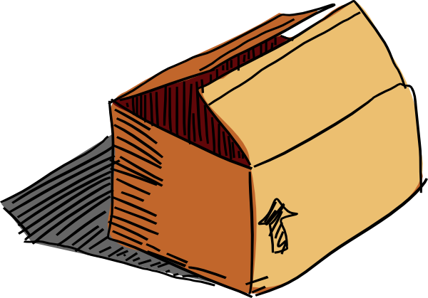 600x419 Cardboard Box Clipart