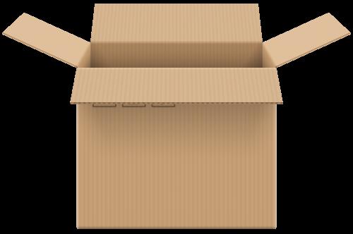 500x332 Cardboard Box Open Png Clip Art