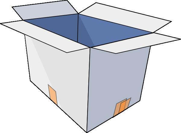 600x440 3d Empty Open Box Clip Art