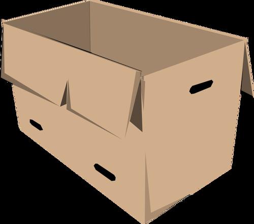 500x440 Clip Art Of Open Recyclable Cardboard Box Public Domain Vectors