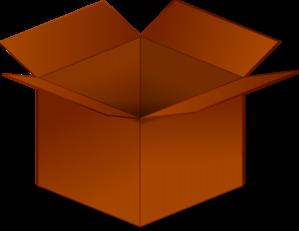 299x231 Open Cardboard Box Clip Art