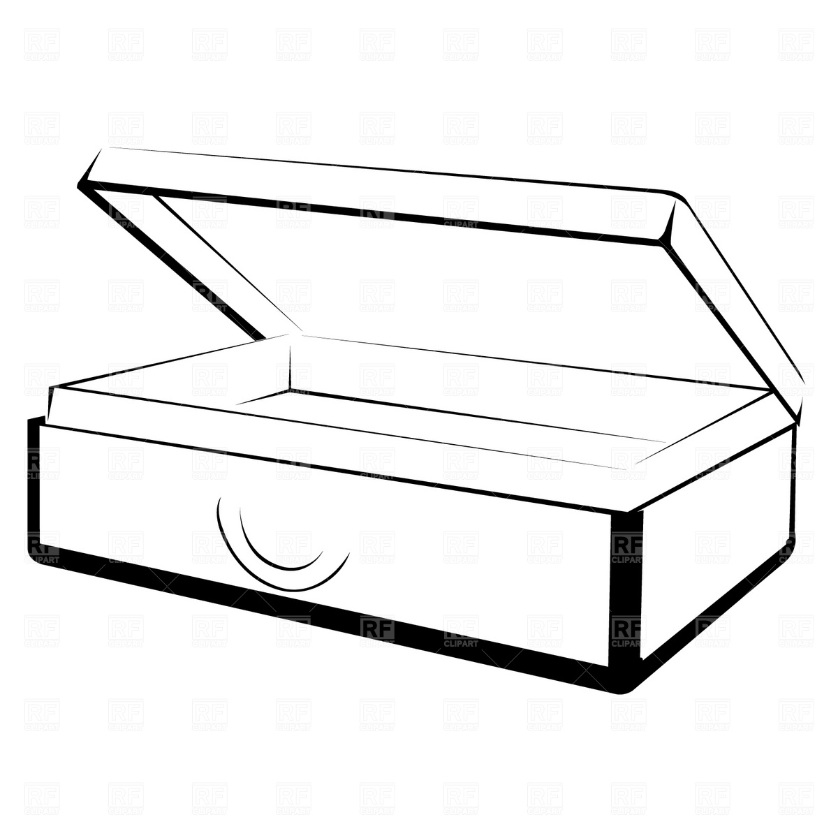 1200x1200 Open Suitcase Royalty Free Vector Clip Art Image