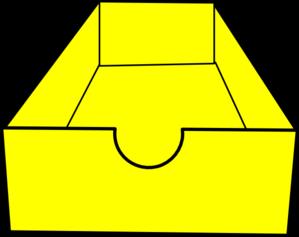 299x237 Yellow Shoe Box Clip Art