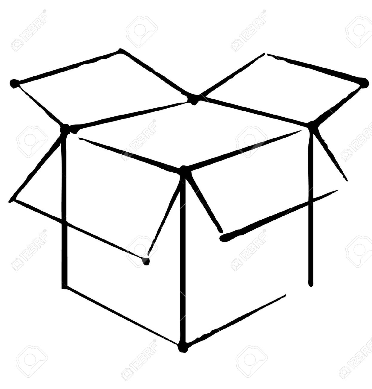 1245x1300 Box Clipart Drawing