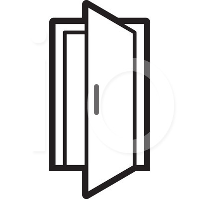 400x420 Open Door Clipart