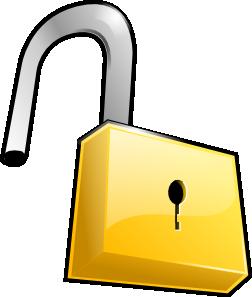 252x297 Open Lock Clip Art