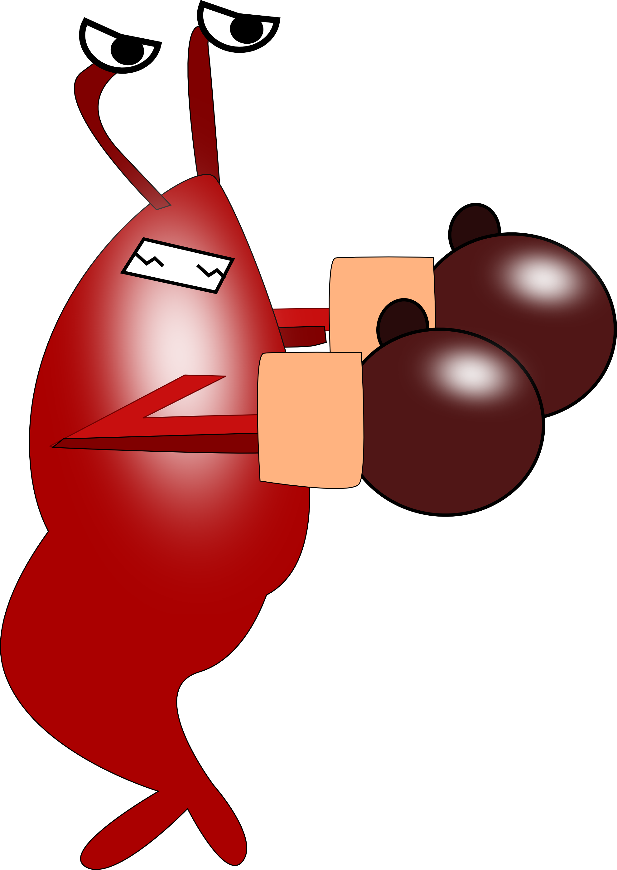 1979x2789 Clip Art Fighting Shrimp 2012 April Clipartist