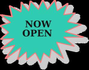 299x234 Now Open Sign3 Clip Art