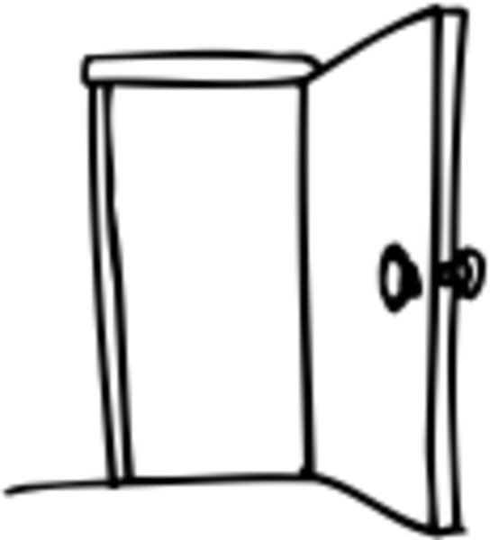 544x600 Closet Door Open Clip Art