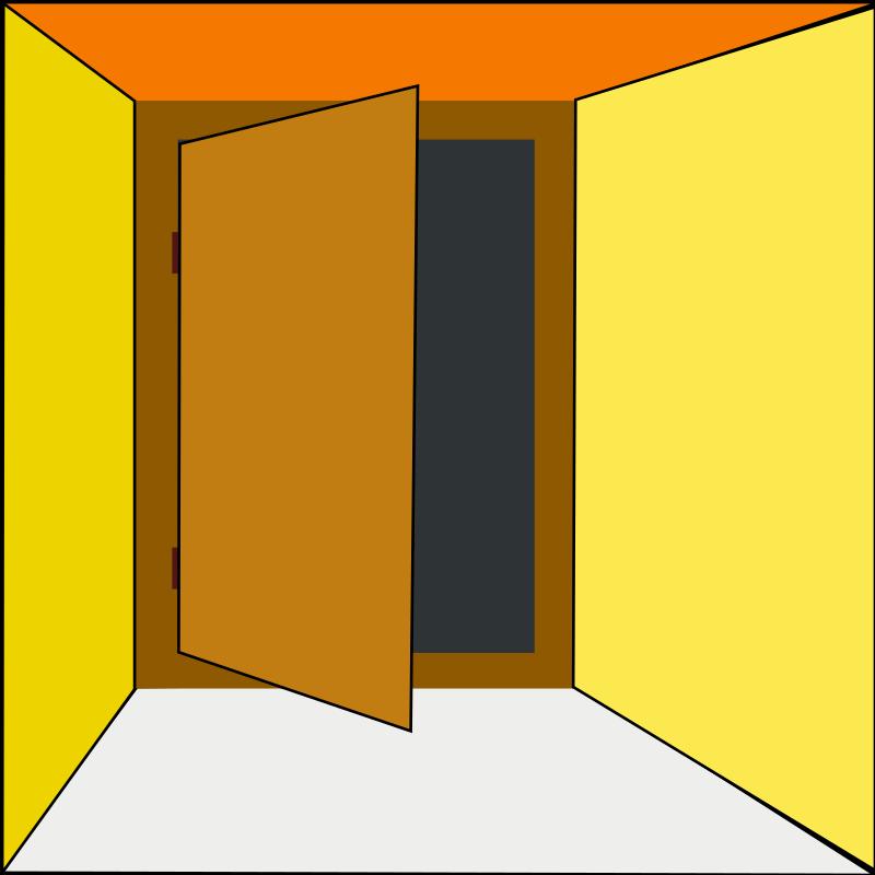 800x800 Open Door Clipart Closet Door