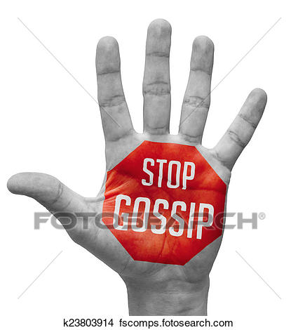 425x470 Drawings Of Stop Gossip On Open Hand. K23803914