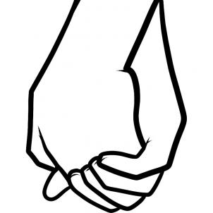 302x302 Holding Hands Clipart