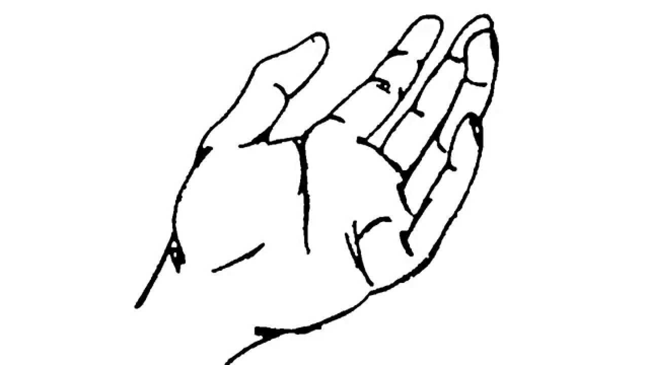 1280x720 How To Draw Open Hand
