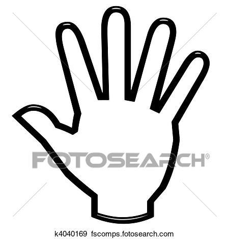 450x470 Stock Illustration Of 3d Open Hand K4040169