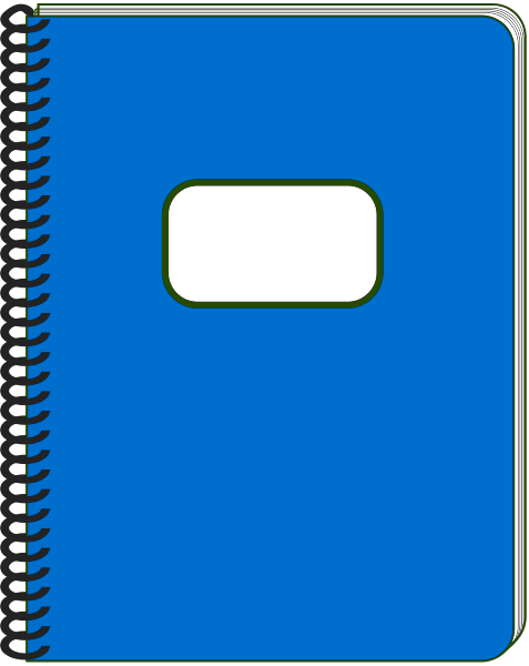 Open Notebook Cliparts