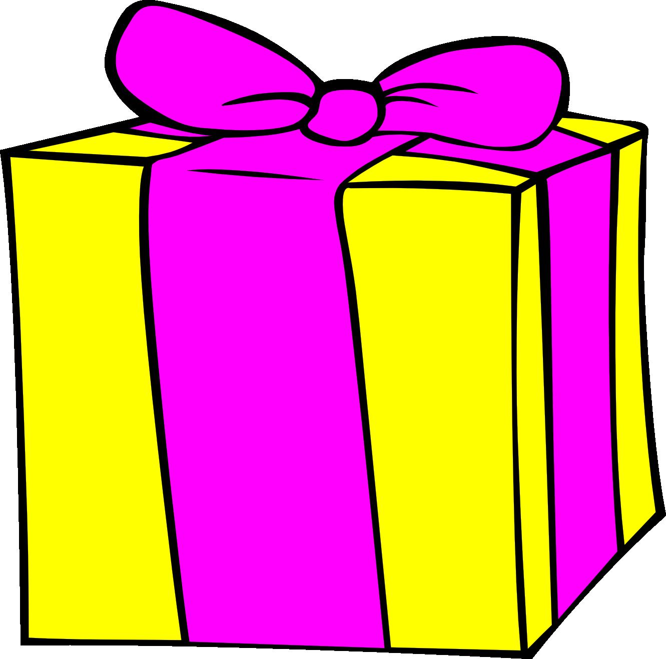 Open Present Clipart