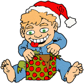 350x352 Gift Clipart Opening Presents