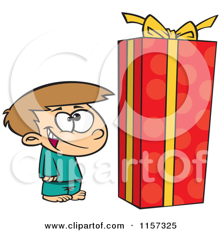 450x470 Open Christmas Box Clipart