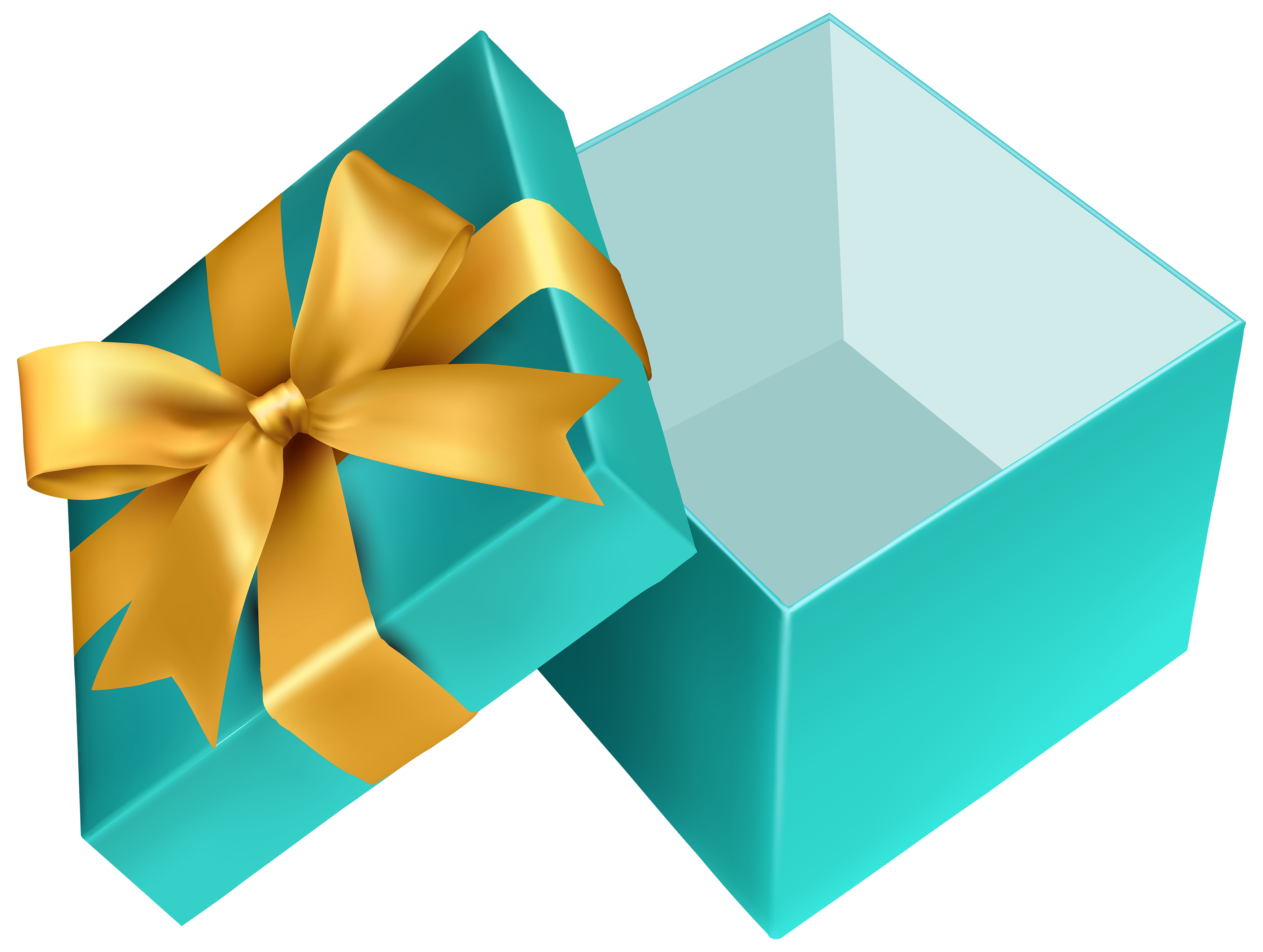 3500x2637 Blue Open Gift Png Clipart