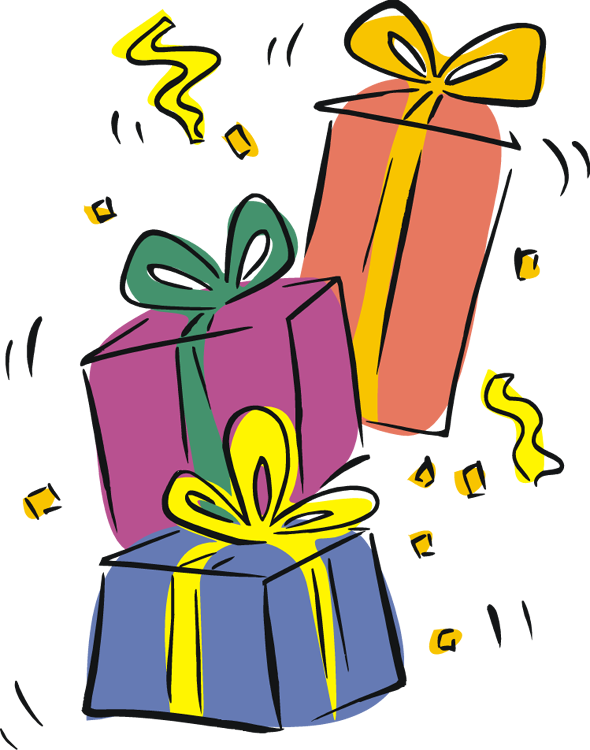 590x750 Open Birthday Present Clipart Free Images