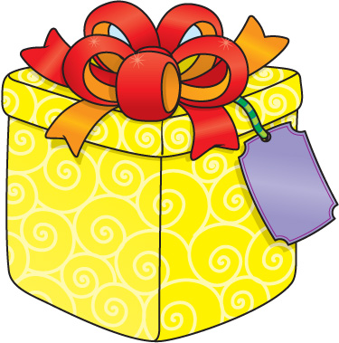 375x379 Open Presents Clipart 2