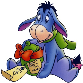 342x342 Winnie The Pooh, Tigger, Eeyore, Piglet. Eeyore Cross Stitch