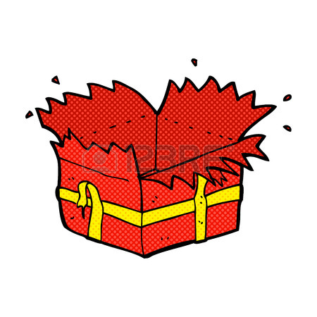 450x450 Cartoon Wrapped Present Royalty Free Cliparts, Vectors, And Stock