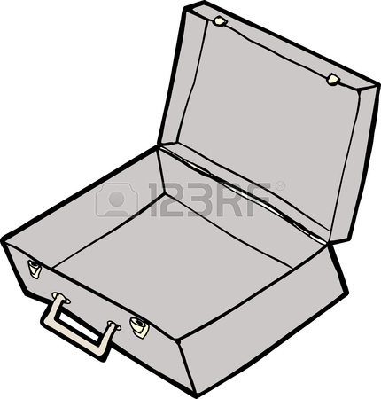 430x450 Green Cartoon Suitcase Over Isolated White Background Royalty Free