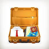 170x170 Open Suitcase Clip Art