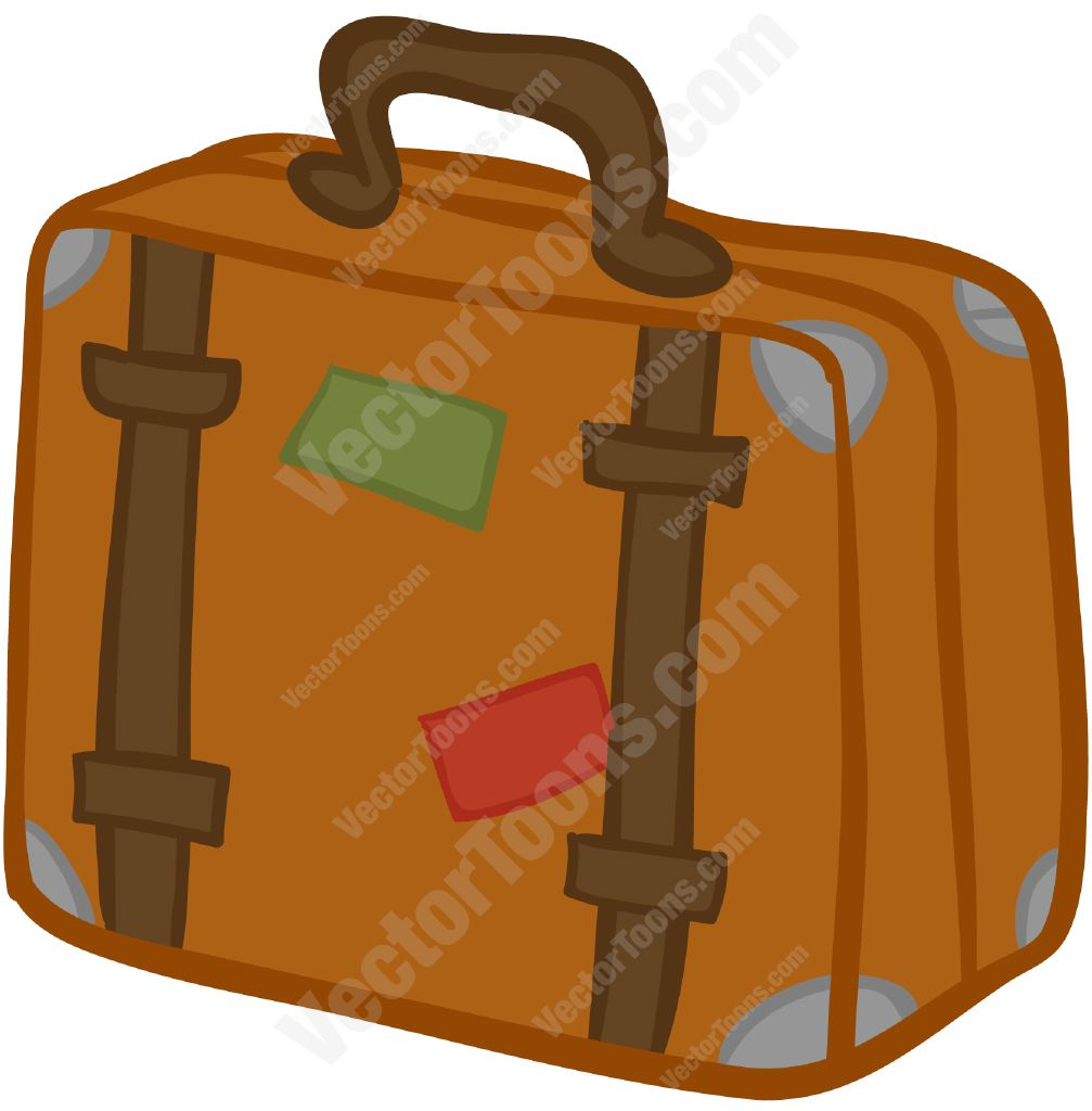 1007x1024 Brown Suitcase With Stickers On It Suitcase