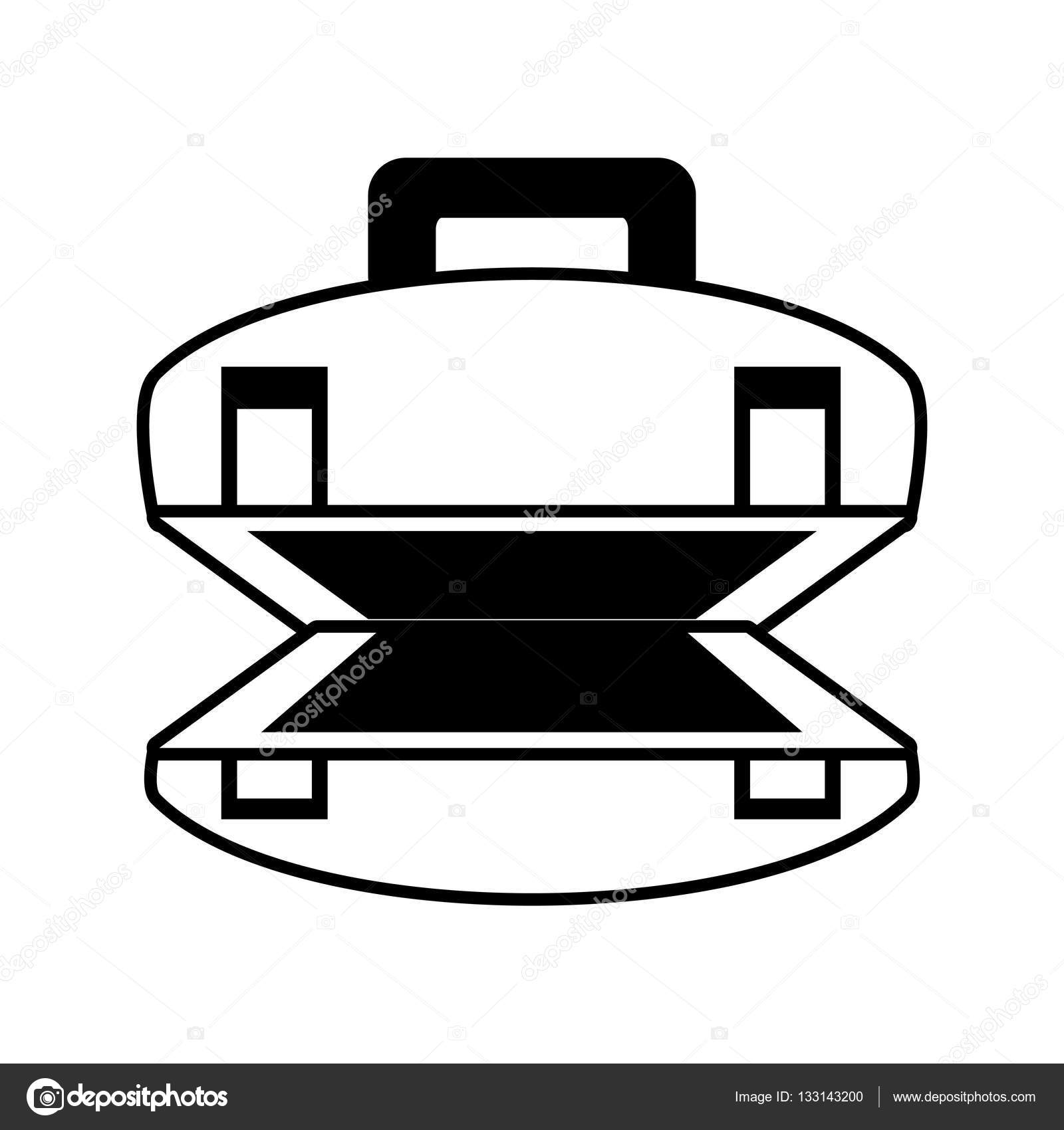 1600x1700 Outline Open Suitcase Luggage Travel Beach Stock Vector Djv