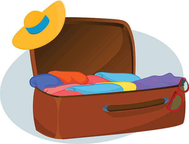 612x467 Suitcase Clipart Full Open