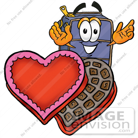450x450 Clip Art Graphic Of A Suitcase Luggage Cartoon Character