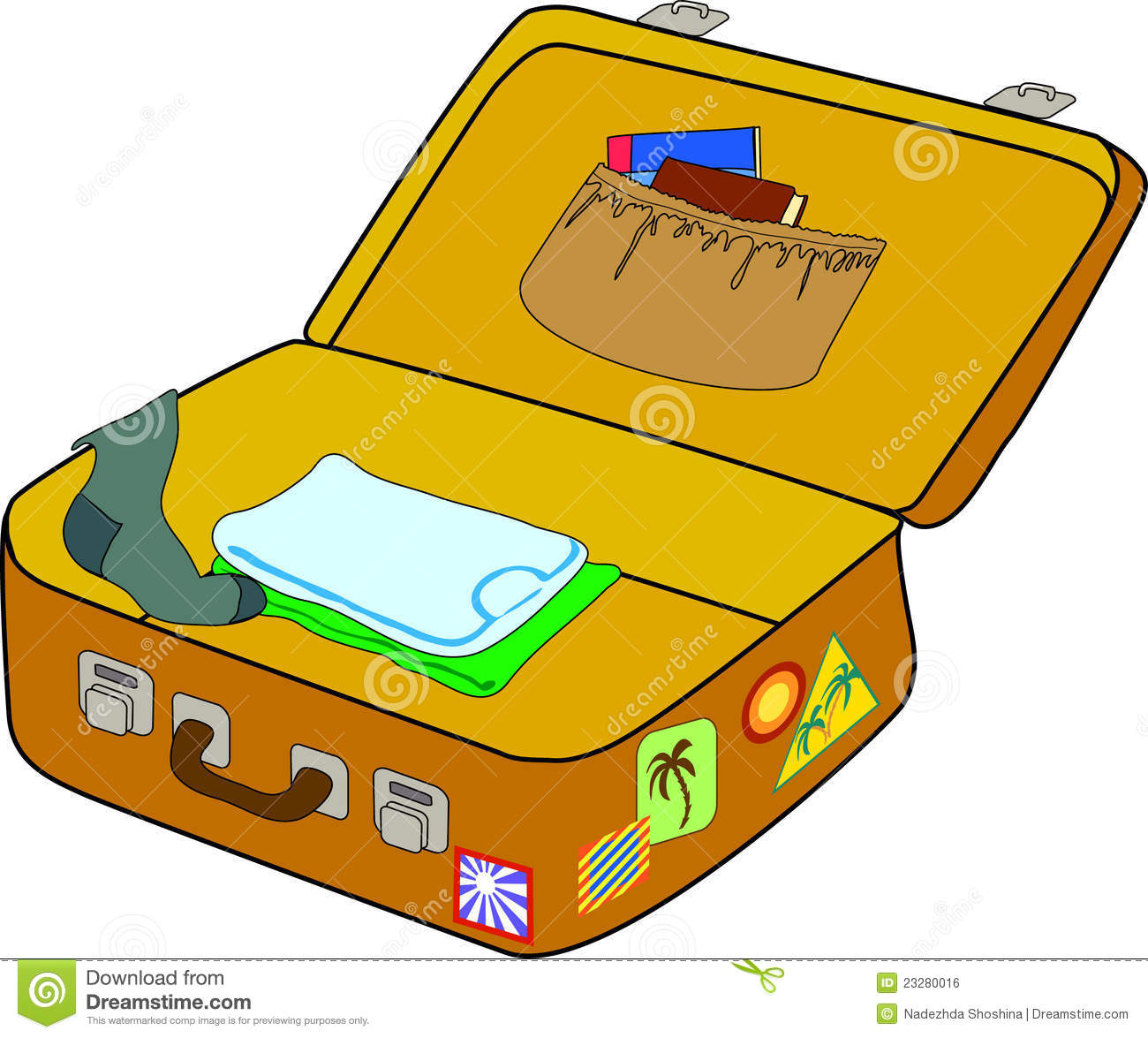1300x1175 Suitcase Clipart Unpacked